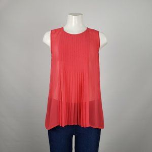 RW&Co Coral Sheer Top Size S